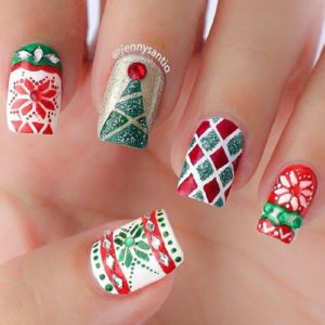 patterns-christmas-nail-art